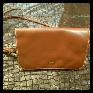 Buxton Genuine Leather Crossbody Bag